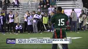 MSU beats Michigan in Special Olympics Unified Flag Football [Video]