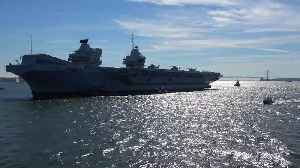 Aircraft carrier HMS Queen Elizabeth arrives in NYC for first US visit [Video]