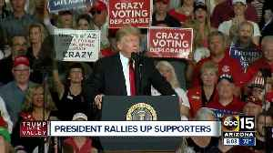 President Trump speaks to supporters during Mesa MAGA rally [Video]