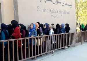 Women Wait in Line in Kabul to Vote in Parliamentary Elections [Video]
