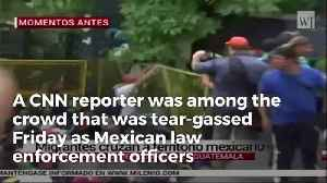 CNN Reporter Hit With Tear Gas While Reporting On Migrant Caravan [Video]