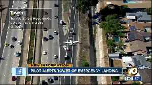 Audio: Pilot alerts tower of I-8 emergency landing [Video]
