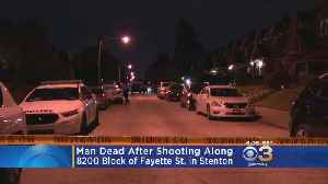 Police: Man Dead After Shooting In Stenton [Video]