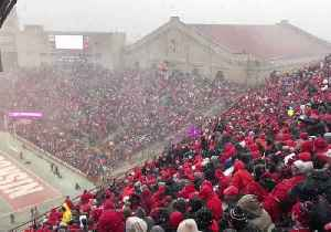 Snow Blankets College Football Game in Madison [Video]
