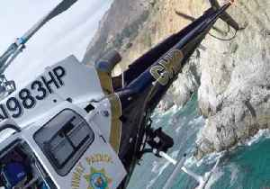 Video Shows Dramatic Helicopter Rescue of Man Stranded Along Big Sur Coast [Video]
