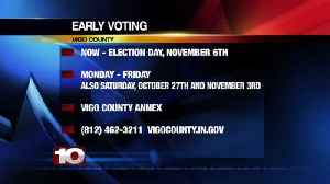 Early Voting, Now-Election Day November 6th [Video]