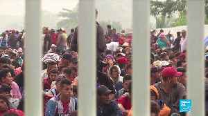 Mexico allows caravan women, children in, but thousands still stranded [Video]
