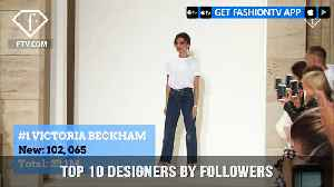 Top 10 Designers by Followers This Week | FashionTV | FTV [Video]