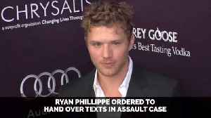Ryan Phillippe Must Turn Over Private Messages With Reese Witherspoon [Video]