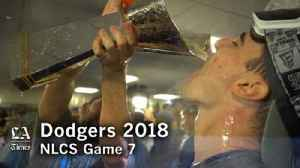 The Dodgers Celebrate winning the 2018 NLCS [Video]