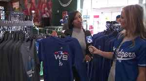 Dodgers Fans Stock Up on World Series Gear After NLCS Win [Video]