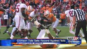 Bama Blows Out Tennessee 58-21 [Video]