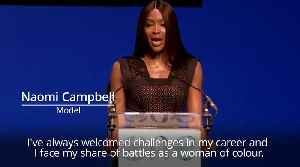 Naomi Campbell tells One Young World forum more change is needed [Video]