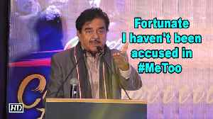 Fortunate I haven't been accused in #MeToo yet: Shatrughan Sinha [Video]