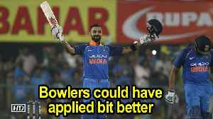 India Vs WI | 1st ODI | Bowlers could have applied bit better, says Kohli [Video]