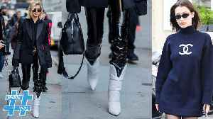 Oversized Sweater & White Boots Take Over Fall Fashion | Trending Topics [Video]