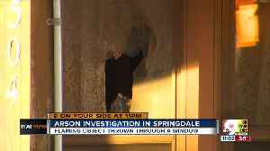 Unknown man throws firebomb into woman's house in Springdale [Video]