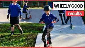 School becomes first in UK to build its own scooter park [Video]