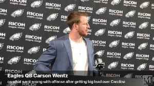 VIDEO: Eagles QB Carson Wentz speaks after loss to Carolina Panthers [Video]