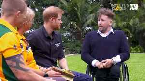 News video: Prince Harry gifted 'budgie smugglers' by Australian Invictus Games athletes