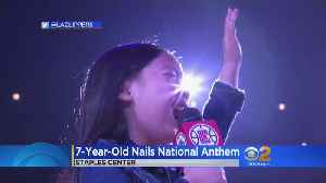 First Stub Hub Center, Now Staples: 7-Year-Old Phenom Nails National Anthem Again [Video]