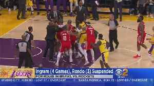 News video: Suspensions, Fines Handed Down In Lakers-Rockets Brawl