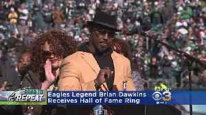 Brian Dawkins Honored With Hall Of Fame Ring [Video]