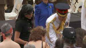 Right Now: Meghan Markle and Prince Harry Open the ANZAC Memorial [Video]