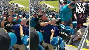 Single brutal punch KO'd this football fan in the stands [Video]