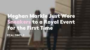 Meghan Markle Just Wore Sneakers to a Royal Event for the First Time [Video]