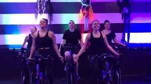 Indoor Cyclists Perform Synchronized Halloween Dance [Video]
