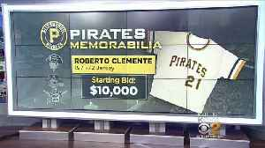 Roberto Clemente Game-Worn Jersey, World Series Trophy Up For Auction [Video]