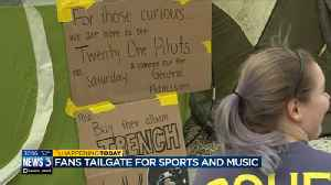 Fans tailgate for sports, music in Milwaukee [Video]