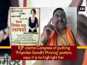 BJP claims Congress of putting 'Priyanka Gandhi Missing' posters, says it is to highlight her [Video]