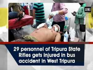 29 personnel of Tripura State Rifles gets injured in bus accident in West Tripura [Video]