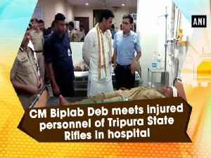 CM Biplab Deb meets injured personnel of Tripura State Rifles in hospital [Video]