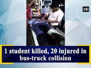 1 student killed, 20 injured in bus-truck collision [Video]