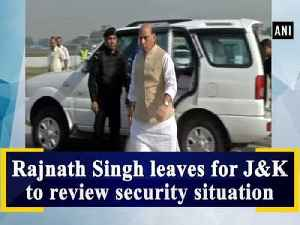 Rajnath Singh leaves for Jammu and Kashmir to review security situation [Video]