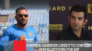 Dhoni & Gambhir Likely To Contest 2019 Elections For Bjp [Video]