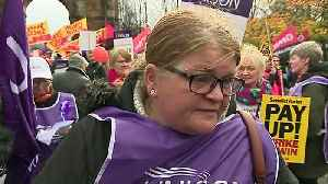 Thousands of council workers strike in Glasgow for equal pay [Video]