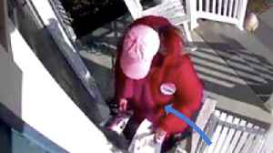 Democratic candidate removes rival's pamphlet from voter's home [Video]