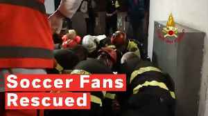 Soccer Fans Rescued After Escalator Malfunctions Ahead Of Match In Rome [Video]