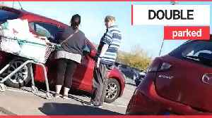 Couple try to unlock wrong car in supermarket [Video]