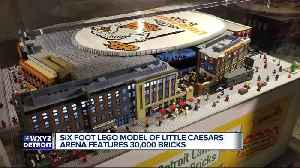 6-foot-long Lego toy replica of Little Caesars Arena unveiled [Video]