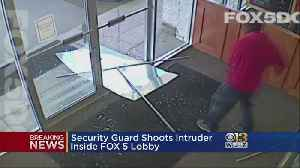 The Latest: Fox 5 DC Security Guard Shoots Suspect Trying To Enter TV Station [Video]