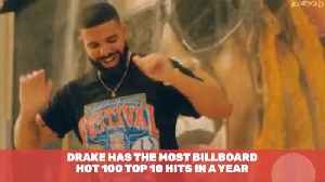 Drake Is At The Top Of The Charts For The year [Video]