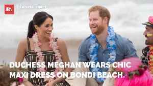 Duchess Meghan Shows Off Her Beach Fashion [Video]
