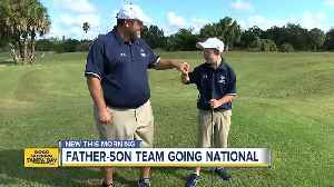 Father-son duo win Special Olympics golf title [Video]