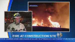 Oakland Fire Department Briefing On Suspicious Construction Site Fire [Video]
