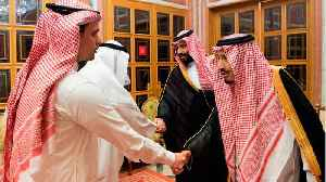 Staged Photos Show Khashoggi's Son Shaking Hands With The Saudi Crown Prince, Who Many Believe Ordered His Father's Death [Video]